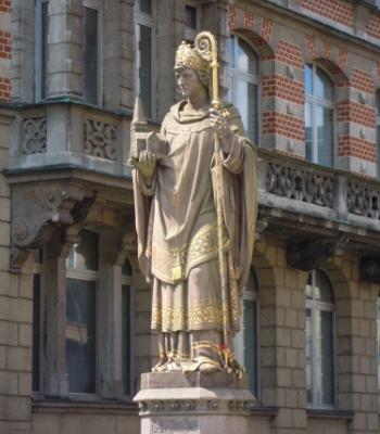 Ansgar-Statue Trostbrücke