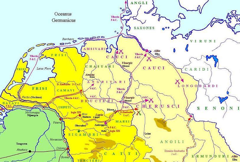 Germanische Stämme Karte.Die Römer An Der Elbe